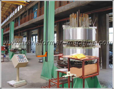 Vertical reactor coil winding machine