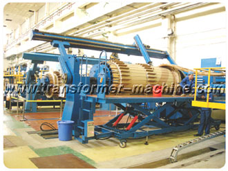 Horizontal Coil Winding Machine With Flexible Compacting Device