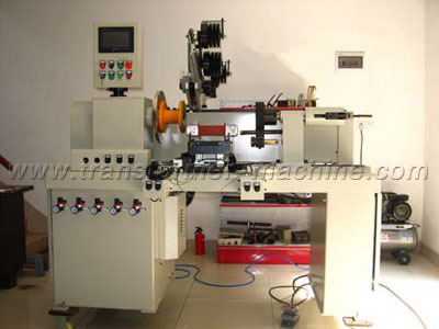 Horizontal reactor coil winding machine